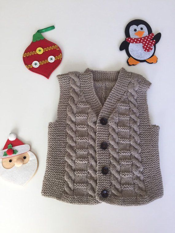 Toddler boy sweater,Christmas outfit gift,wool,vest,18 months 2T,2