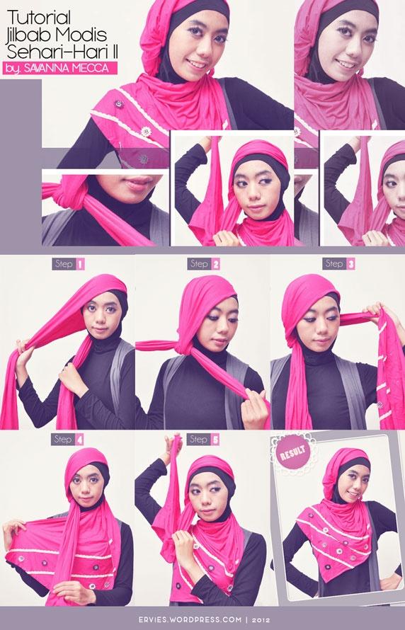 Tutorial Hijab Pinky Shawl #SavannaMecca