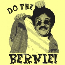 """It's the Dance Craze that's sweeping the nation! """"Do the Bernie"""" Funny Weekend at Bernies T-shirt from DonkeyTees.com"""