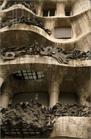 Picture of modernist house by antonio gaudi - La Pedrera BCN