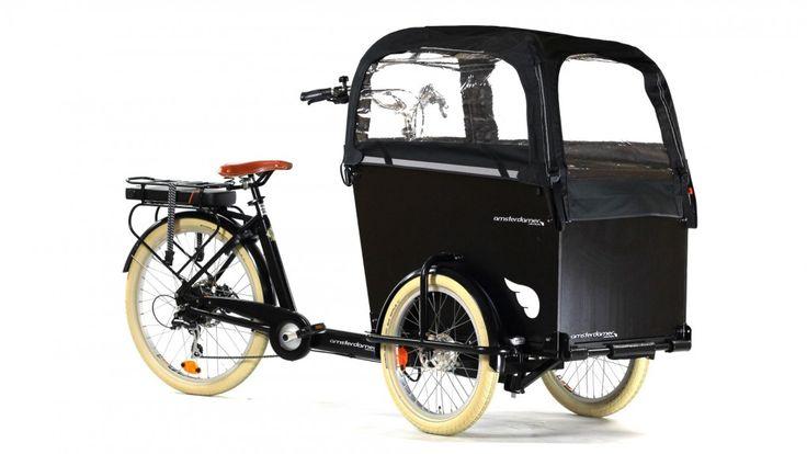 Transporter vos enfants en tout sécurité avec le triporteur électrique Amsterdamer Smiley