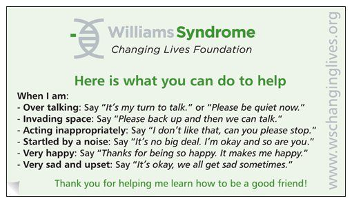 SOCIAL BUSINESS CARDS FOR YOUR CHILD Visit http://www.wschanginglives.org/Store.html  #Williams #Syndrome #Social #Information #Integration #Info #Help #Tool