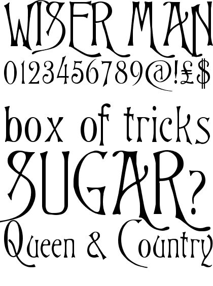 victorian fonts | Victorian Swash font | type.co.uk