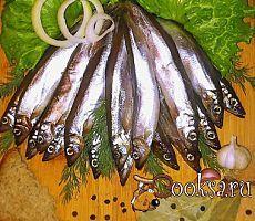 Соленая мойва с чесночком (Сухой посол) фото рецепт приготовления