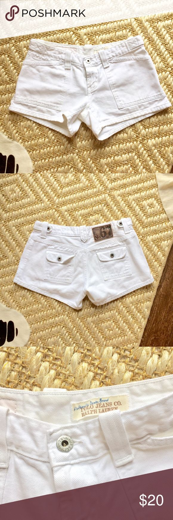 Polo Ralph Lauren Whitney Multipocket Denim Shorts Love these white denim shorts! Super flattering cut. Gently used. Size 4. Polo by Ralph Lauren Shorts