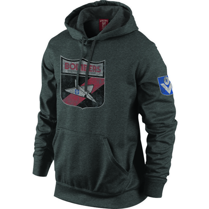 Essendon Bombers Mens Retro Hoody. Manufactured by Playcorp.