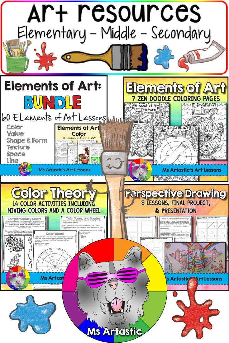 Art Lessons and Resources for Art Teachers teaching K-12. 200+ Art Resources to choose from on of the BEST Art Stores for Teachers on TeachersPayTeachers.com- Ms Artastic! Make FANTASTIC art!