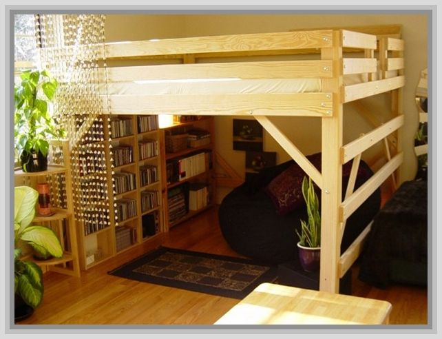 17 best ideas about adult bunk beds on pinterest modern - Adult loft beds with stairs ...