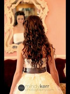 McKennas Wedding by Mommy Does Hair/ half up curls