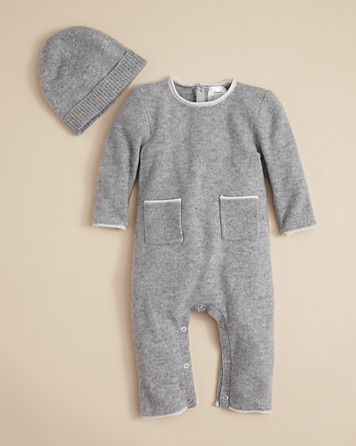 Bloomie's Baby Infant Unisex Cashmere Hat & Coverall - Newborn (0-9 months) - BABY - Kids - Bloomingdale's