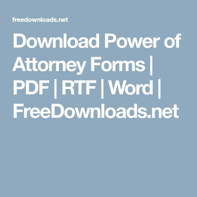 Best  Power Of Attorney Form Ideas On   Power Of