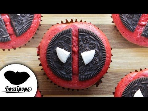 Deadpool Cupcakes - YouTube  - See more #yummy ideas at http://pinterest-blog.com/pinterest-recipes/