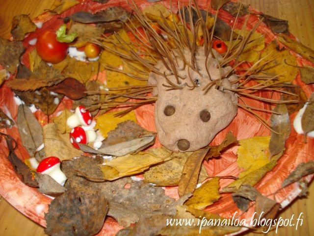 askartelua: eläimet, siili, taikataikina  http://ipanaaskartelua.blogspot.fi/2010/12/siili-ja-sen-pesa.html