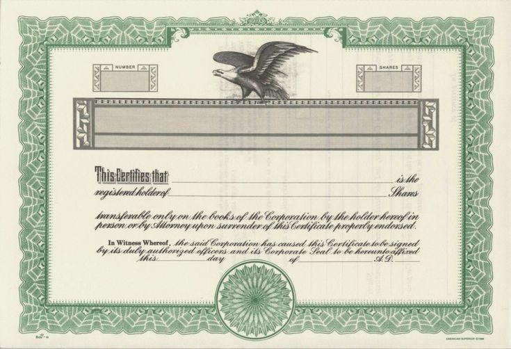 Duke 10 Stock Certificates - stock certificates blank