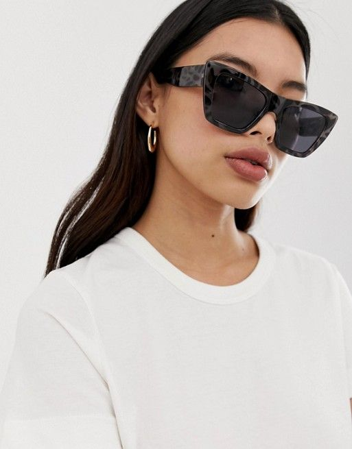 a7aedf774 Weekday oversized cateye sunglasses in black in 2019 | sunglasses ...