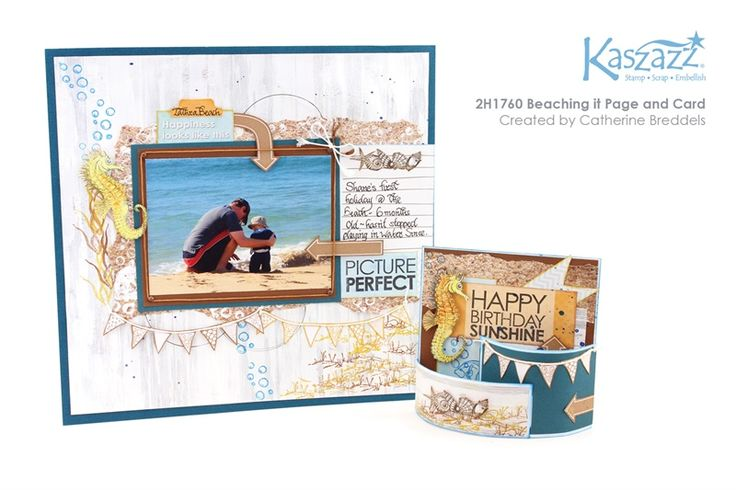 2H1760 Beaching it Page and Card