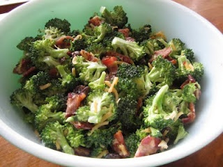 broccoli bacon raisin salad...yum