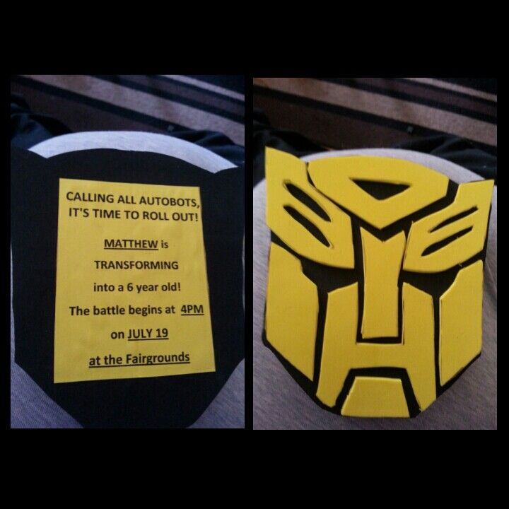 Transformer Party Invitations is Best Sample To Make Best Invitation Design