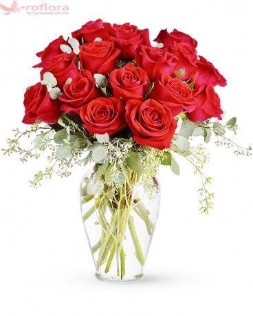 Pentru Totdeauna - Buchet din trandafiri rosii