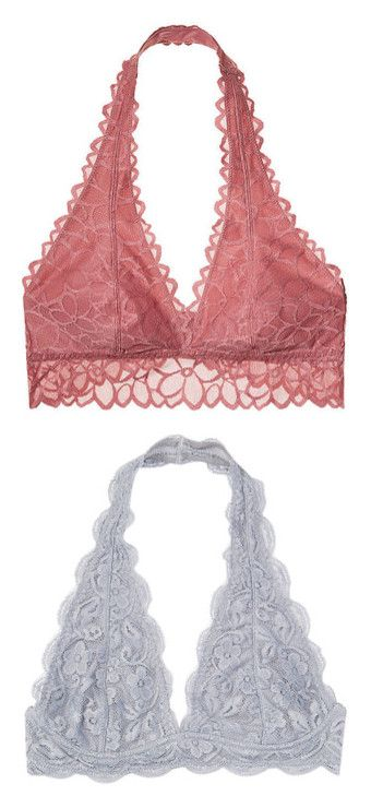 """""""Bras"""" by gra-nola ❤ liked on Polyvore featuring intimates, bras, bralettes, lingerie, tops, underwear, lacy bras, lacy lingerie, lace bralette bra and pink bra"""