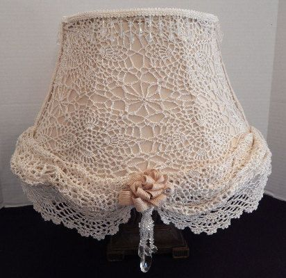 handmade / handcrafted shabby chic lamp by TerrisTreasures1969, $75.00