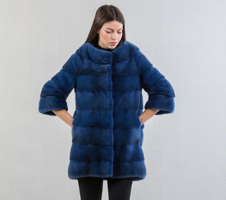 Royal Blue Mink Fur Jacket    #blue #mink #fur #jacket #real #style #realfur #elegant #haute #luxury #chic #outfit #women #classy #online #store