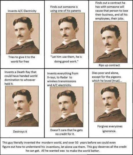 -- Nikola Tesla (Никола Тесла) -- A real genius and humble creator