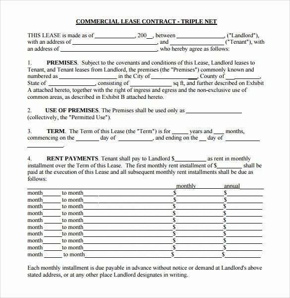 New 8 Sample Net Lease Agreement Templates Net Lease Document