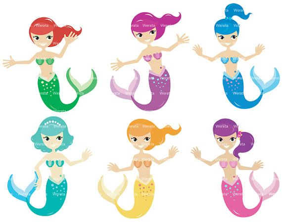 Free Mermaid Clip Art for Commercial Use