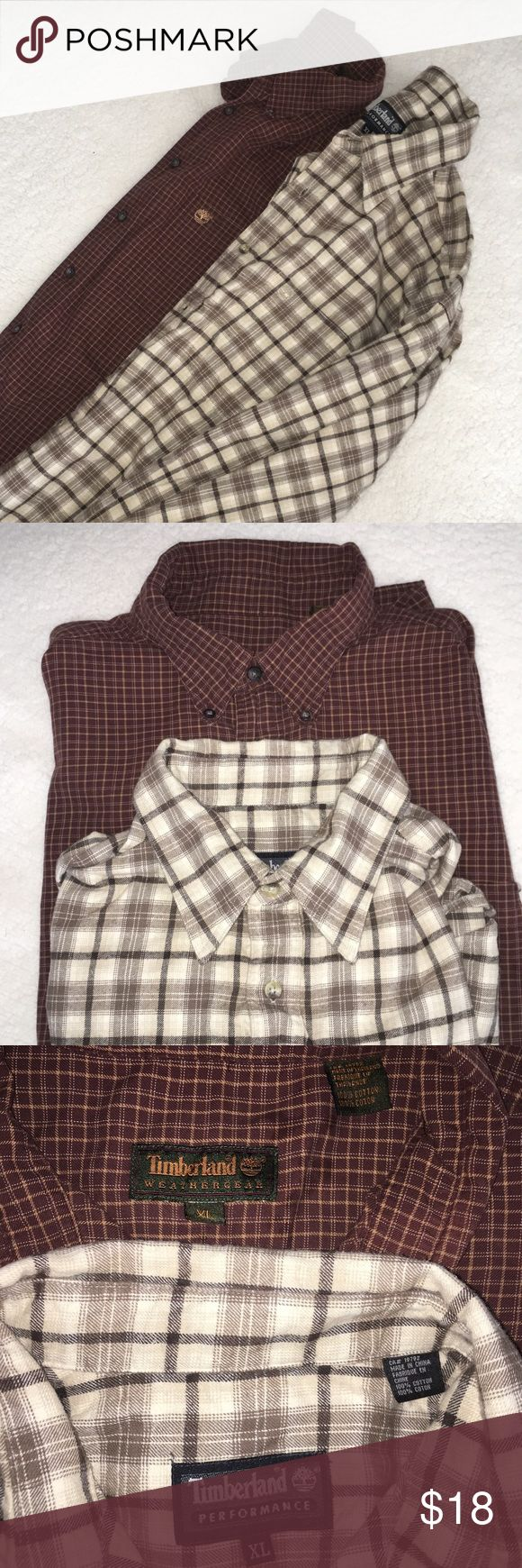 Bundle of 2 XL Timberland Long Sleeve Button Downs Bundle of 2 XL Timberland Long Sleeve Button Downs. See pictures for colors. Comment with questions or if you only want one. Used. Timberland Shirts Casual Button Down Shirts