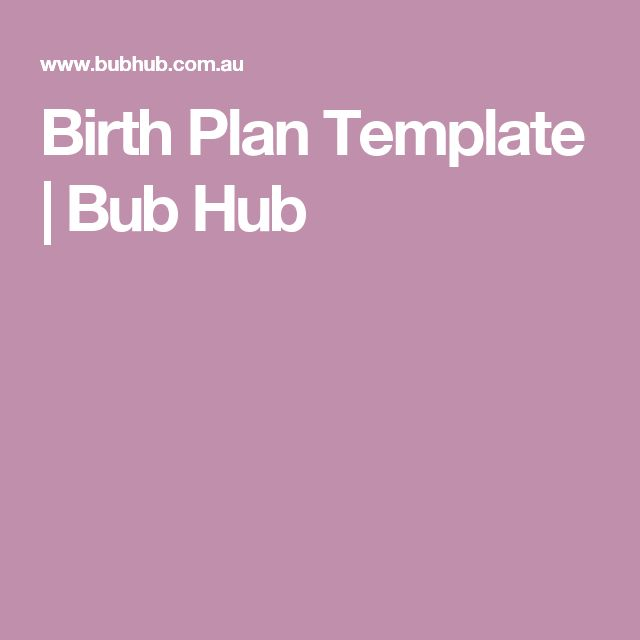 The 25 best birthplan template ideas on pinterest birthing plan birth plan template bub hub pronofoot35fo Choice Image
