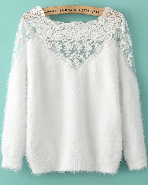 Lace Mohair Sweater                                                                                                                                                                                 More http://bellanblue.com