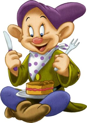 Dopey Dwarf Birthday Clipart