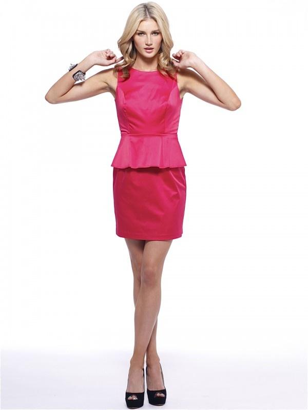 Tansy Peplum Dress by Signature T  Now: $199.95 #peplum #dress #fashion