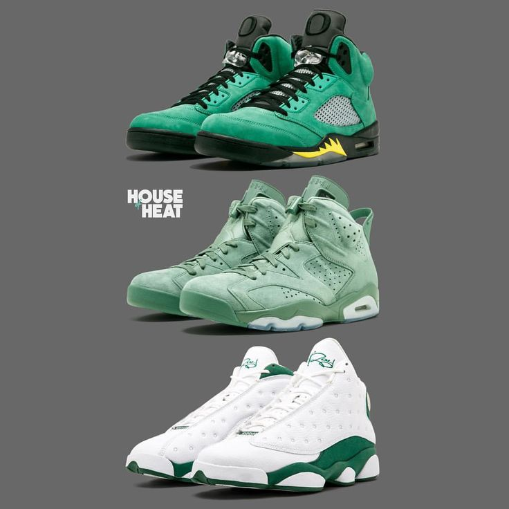 """28.6k Likes, 611 Comments - Sneaker News & Culture (@thehouseofheat) on Instagram: """"PICK ONE PAIR Which green Jordan PE is the best? #houseofheat"""""""