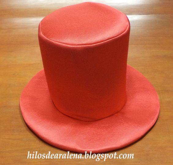 Hacer Sombreros para cotillón tipo galera   gorros goma espuma ...