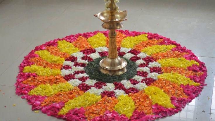 Onam special kolam poo kolam step by step procedure/Rangoli flower kolam