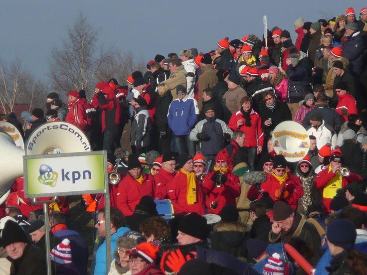 NK marathon op natuurijs in 2012 op de Grote Rietplas Emmen