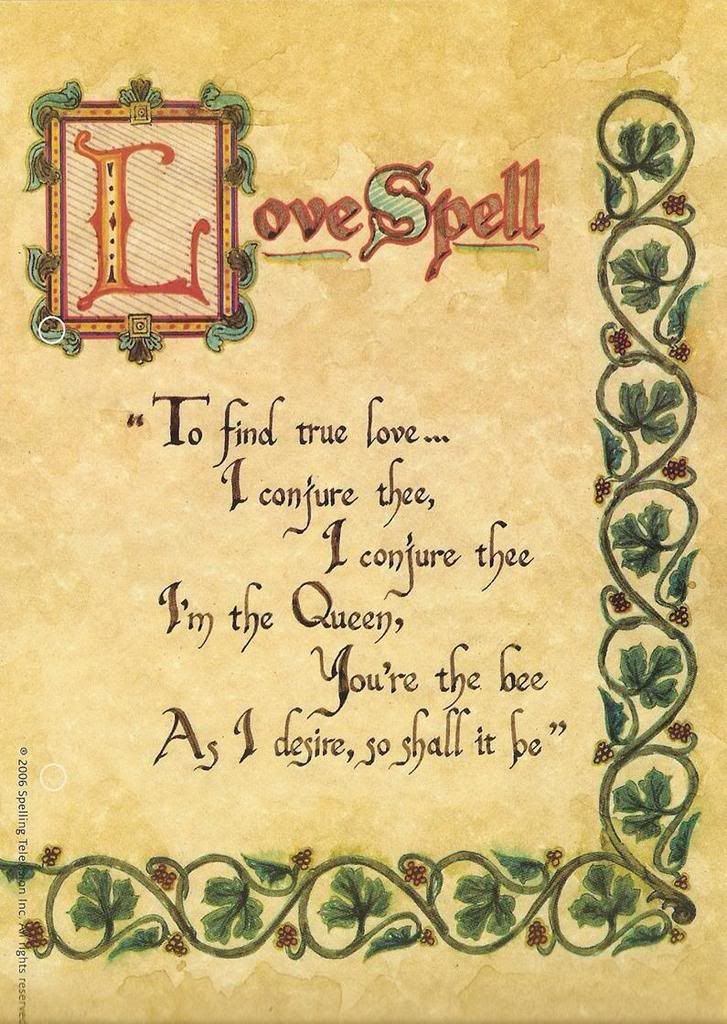 Printable Book Of Shadows Pages | Image - LOVESPELL.jpg - Charmed Wiki - For all your Charmed needs!