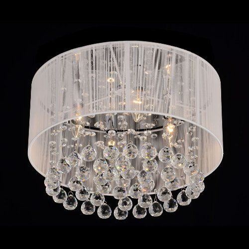 19 best chandeliers images on pinterest dining rooms drum flushmount 4 light chrome and white crystal chandelier jojospring http aloadofball Choice Image
