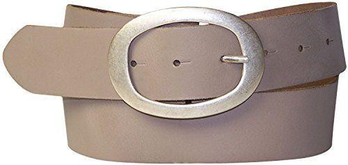 cecffc28af34d8 Fronhofer Gürtel 4 cm Ledergürtel Damen ovale Gürtelschnalle in silber  Basicgürtel Rindsleder Damengürtel runde Schnalle 17611