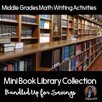 Middle-grades pre algebra mini books - a great way to get your students writing in math class!  Students will explore rational & irrational numbers, slope of lines, Pythagorean Theorem, and also reflect upon their goals, struggles, and achievements.