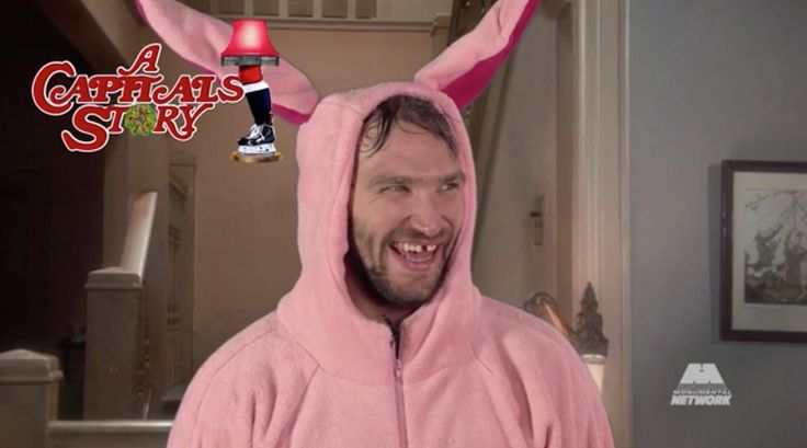 In honor of the Christmas tradition the Washington Capitals did their part to re-enact
