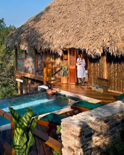 Unplugged Honeymoon Resort (no wi-fi, phones or TV!): Blancaneaux Lodge, Belize