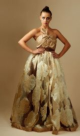 Gold and brown shweshwe dress