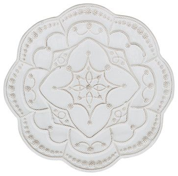 Jardins Du Monde Grande Charger Plate - Whitewash transitional chargers