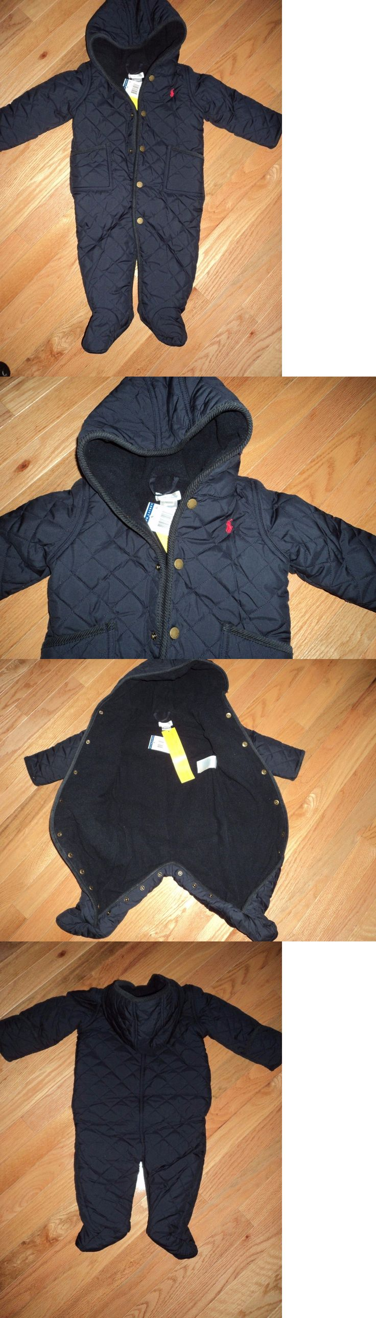 Baby Boys Clothing And Accessories: Nwt Polo Ralph Lauren Hooded Boys One Piece Sz 9M -> BUY IT NOW ONLY: $45 on eBay!