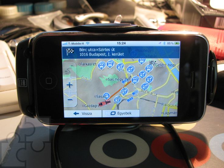 iGO primo app Car Dock - felszerelve.