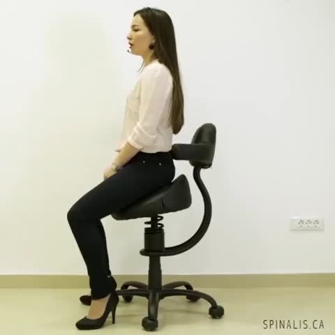 Spinalis Rodeo series chair is great for posture correction and healthy back #posture #rodeo #cowgirl #butt #bum #rearend #fitness #office