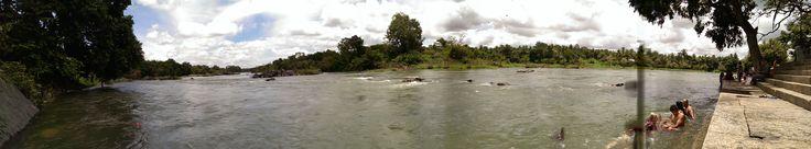 Teacher Trainees swimming in the river near Ashtanga Yoga Mysore